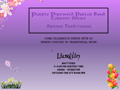 Purple Pipeweed spring concert @ Michel Delving